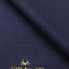 Mark & Peanni Dark Royal Blue Checks Terry Rayon Unstitched Fabric (1.25 Mtr) For Trouser