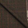 Raymond Dark Brown Self Checks New Merino Wool Blended Thick Tweed Jacketing & Blazer Fabric (Unstitched - 2.20 Mtr)