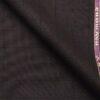 Raymond Dark Purple Polyester Viscose Black Checks Unstitched Suiting Fabric