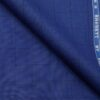 Raymond Bright Royal Blue Polyester Viscose Black Checks Unstitched Suiting Fabric