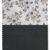 Combo of Raymond Pine Green Checks Trouser Fabric With Nemesis White 100% Giza Cotton Digital Print Shirt Fabric (Unstitched)