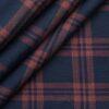 Soktas Blue 100% Giza Cotton Red Broad Checks Shirt Fabric (1.60 M)