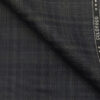 Raymond Dark Grey Polyester Viscose Broad Self Checks Unstitched Suiting Fabric - 3.75 Meter