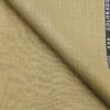 Raymond Sand Castle Beige Polyester Viscose Self Design Unstitched Suiting Fabric - 3.75 Meter