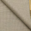 Raymond Beige Polyester Viscose Houndstooth Strcuture Unstitched Suiting Fabric - 3.75 Meter