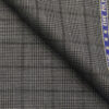 Raymond Grey Polyester Viscose Self Black Structured Cum Checks Unstitched Suiting Fabric - 3.75 Meter