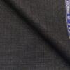 Raymond Dark Grey Polyester Viscose Self Checks Unstitched Suiting Fabric - 3.75 Meter