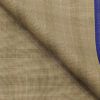 Raymond Oat Beige Polyester Viscose Self Broad Checks Unstitched Suiting Fabric - 3.75 Meter