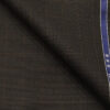 Raymond Dark Brown Polyester Viscose Self Checks Unstitched Suiting Fabric - 3.75 Meter
