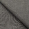 Cadini Italy Men's by Siyaram's Worsted Grey Exotic Terry Rayon Pin Stripes Unstitched Suiting Fabric - 3.75 Meter