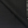 Cadini Italy Men's by Siyaram's Black Terry Rayon White Stripes Unstitched Trouser or Modi Jacket Fabric (1.30 Mtr)