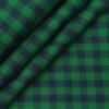 Raymond Men's 100% Egyptian Giza Cotton Blue Checks Unstitched Shirt Fabric (Green)
