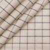 Raymond Men's 100% Premium Cotton Purple Checks Unstitched Shirt Fabric (Cream)