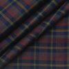 Nemesis Men's 100% Giza Cotton Red & Brown Checks Unstitched Shirt Fabric (Dark Blue
