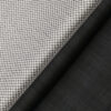 Raymond Men's Blackish Grey Self Checks Poly Viscose Trouser Fabric With Birla Century White Printed Cotton Shirt Fabric (Unstitched Combo)