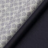 Raymond Men's Dark Blueish Purple Self Striped Poly Viscose Trouser Fabric With White & Purple Print Cotton Shirt Fabric (Unstitched Combo)