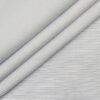 Raymond Men's Poly Cotton Blue Pin Stripes Unstitched Shirt Fabric (White
