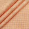 Raymond Men's Poly Cotton Orange Micro Checks Unstitched Shirt Fabric (White