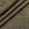 Tessitura Monti Men's Cotton Self Design 1.60 Meter Unstitched Shirt Fabric (Light Brown)