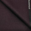 J.Hampstead Men's Polyester Viscose Structured Unstitched Suiting Fabric (Shiny Dark Wine )