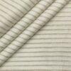 Burgoyne Men's 60 LEA Irish Linen Striped Unstitched Shirting Fabric (White)