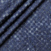 Pee Gee Men's Cotton Printed Unstitched Shirting Fabric (Dark Blue)