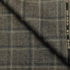 OCM Men's Wool Checks Medium & Soft 2 Meter Unstitched Tweed Jacketing & Blazer Fabric (Dark Brown)