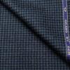 OCM Men's Wool Houndstooth Fine & Soft 2 Meter Unstitched Tweed Jacketing & Blazer Fabric (Dark Blue & Black)