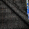 Raymond Men's Wool Houndstooth Medium & Soft 2.20 Meter Unstitched Tweed Jacketing & Blazer Fabric (Dark Grey)