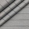 Tessitura Monti Men's Giza Cotton Striped 2 Meter Unstitched Shirting Fabric (Light Grey)