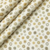 PEE GEE Men's Cotton Printed 2.25 Meter Unstitched Shirting Fabric (Milky White)