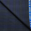 Raymond Men's Wool Checks Super 90's 2 Meter Unstitched Suiting Fabric (Dark Royal Blue)