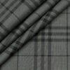 Soktas Men's Giza Cotton Checks Unstitched Shirting Fabric (Grey)