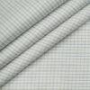 Soktas Men's Giza Cotton Checks Unstitched Shirting Fabric (White)