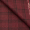 Raymond Men's Polyester Viscose Checks Unstitched Suiting Fabric (Maroon Red)