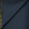 J.Hampstead Men's Wool Checks Super 120's 1.30 Meter Unstitched Trouser Fabric (Dark Blue)