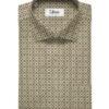 Tessitura Monti Men's Giza Cotton Jacquard 2 Meter Unstitched Shirting Fabric (Beige & Brown)