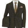 Don & Julio Men's Terry Rayon Structured 3.75 Meter Unstitched Suiting Fabric (Brown)