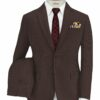 Don & Julio Men's Terry Rayon Structured 3.75 Meter Unstitched Suiting Fabric (Dark Wine)